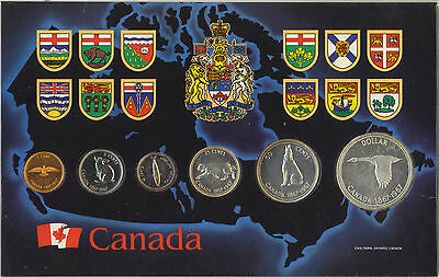 Canada 1867-1967 Confederation Like Proof Coin Set Silver 1.1 OZ in Holder