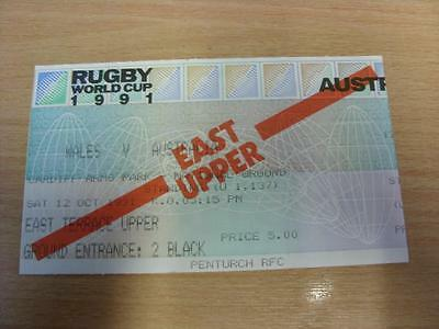 12/10/1991 Rugby World Cup 1991 - Wales v Australia [At Cardiff Arms Park] [Rugb