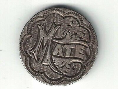 "Canada 10 Cents Dime Queen Victoria Silver Love Token Named ""mate"""