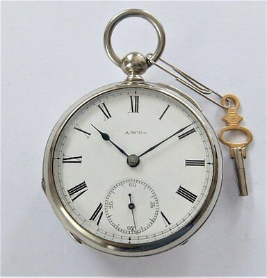 1886 Waltham Silver Cased English Lever Pocket Watch 'broadway' In Working Order