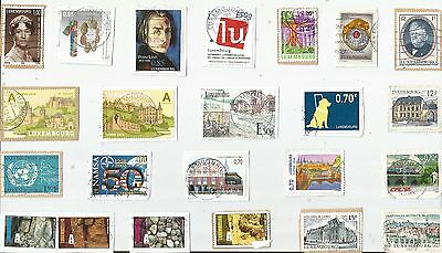 A Lovely Selection Of Kiloware Stamps From Luxembourg