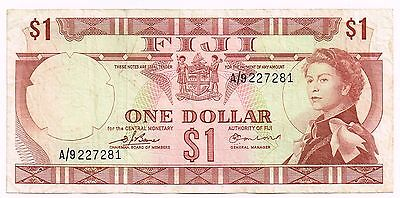 1974 FIJI ONE DOLLAR NOTE - p71a
