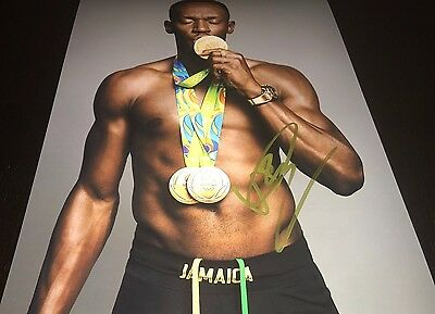 Usain Bolt Olympic Track Star Hand Autographed Signed 11X14 Photo Proof Jamica