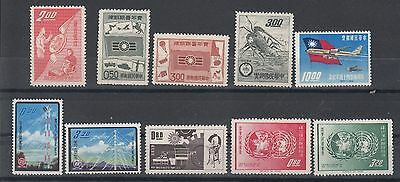 China-Taiwan 1960/1962 small selection of 10 stamps. MUH/MNH. Going cheap