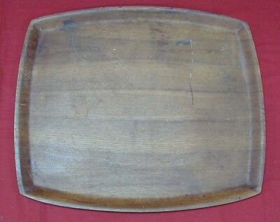 Large Vintage Bn Teak Wood Rainbow Serving Tray Made In Sweden 16 1/4 X 13 3/4