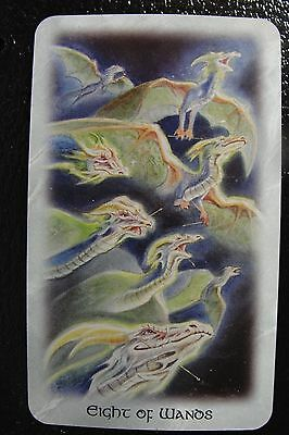 Eight of Wands The Celtic Dragon Tarot Single Replacement Card Excellent