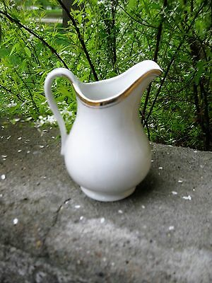 Small Antique White Ironstone Pitcher Britannia Austria