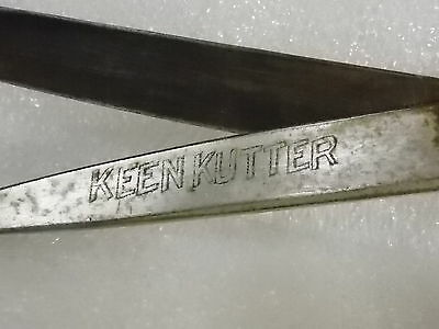 ORIGINAL antique vintage KEEN KUTTER scissors PRIMITIVE TOOL sewing $9.95 NO RSV