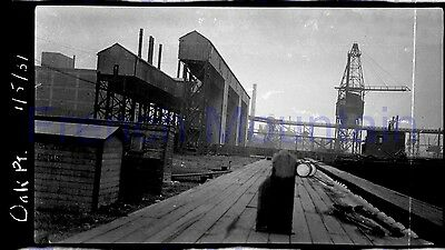 5x3 Film Photo Negative 1931 NYNH&HRR Oak Point Yards NY Cranes Buildings  3406