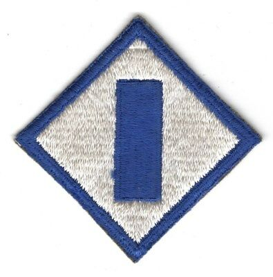 Army Patch:  1st Service Command - cut edge, WWII era