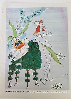 1941 salut de Schiaparelli perfume nude redhead Vertes art ad as is