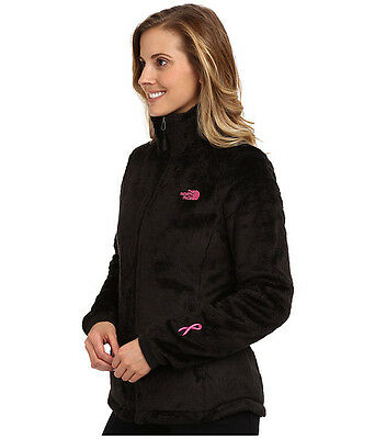 New Women's The North Face Ladies Osito Pink Ribbon Black Jacket XS