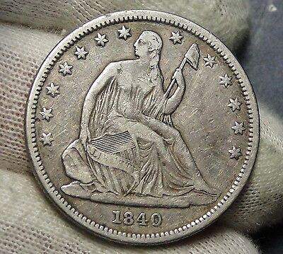 1840 Seated Liberty Half Dollar 50 Cents. Nice Coin Free Shipping (4052)