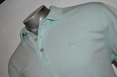 3672-c Mens Tommy Bahama Polo Shirt Blue Size XL Polyester Blend