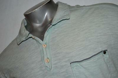 3352-c Mens Tommy Bahama Polo Shirt Faded Blue Size XL 100% Cotton