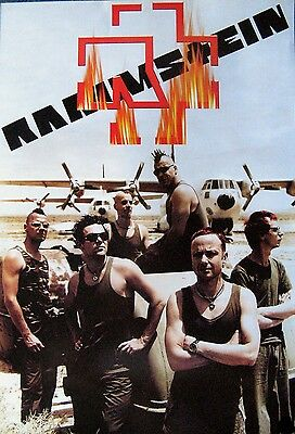 Rammstein at airfield POSTER 14.5 x 21 German industrial rock metal group