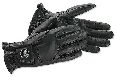 Beretta Mens Shooting Gloves, Leather, Black, Extra Large GL4900210999XL