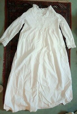Vintage Antique White Cotton Nightgown. L