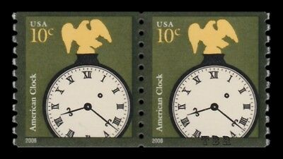 3763a American Clock 10c Untagged Pair Variety Design Reprint 2013 MNH - Buy Now
