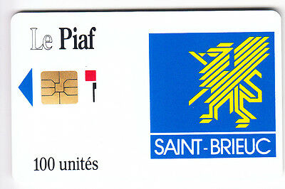 Piaf Parking Carte / Card .. 100U Saint Brieuc Iso 23/91 1.000Ex Chip/puce Neuve