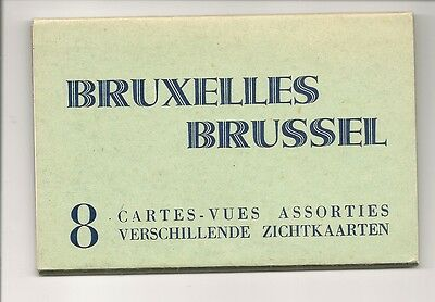 Old Postcards-BRUXELLES-BRUSSELS-8 CARD PACK-BELGIUM