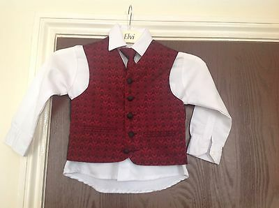 Boy's full wedding/page boy outfit in burgundy age 4