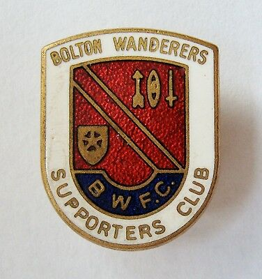 BOLTON WANDERERS - Superb Supporters Club Enamel Football Pin Badge