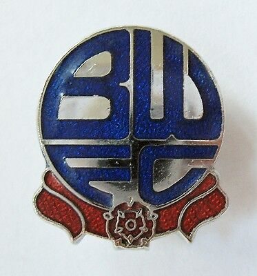 BOLTON WANDERERS - Superb Enamel Football Pin Badge By Reeves