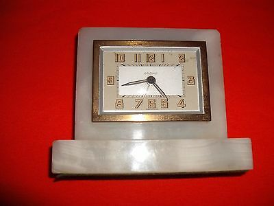Vintage Art Deco Bayard France White Alabaster, clean and working