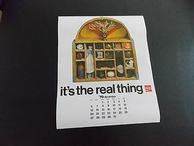 1971 Coca Cola calendar- Nice condition on thei original. 71 Coke