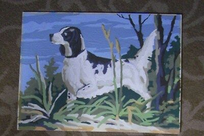 Black & White Dog Scene In Marsh- Paint By Number-Vintage-12X16