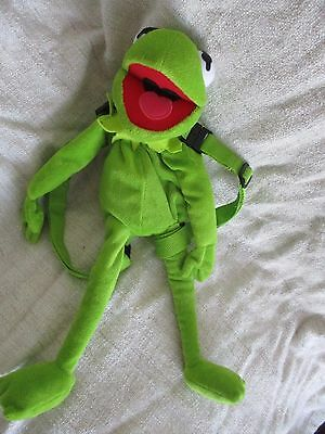 THE MUPPET SHOW Muppets - Kermit the frog bag backpack plush soft toy VGC