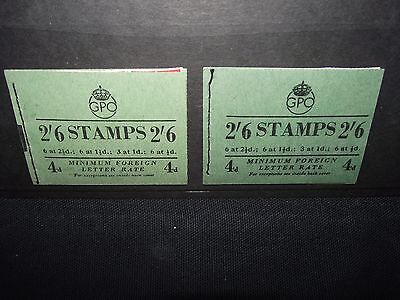 GB 1952 + 1953  2/6  booklets.  sg F1 & BD31.  cat value £85-