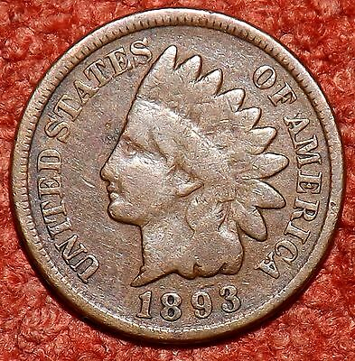 1893 USA Indian Head Cent -- Collectible Grade & Detail
