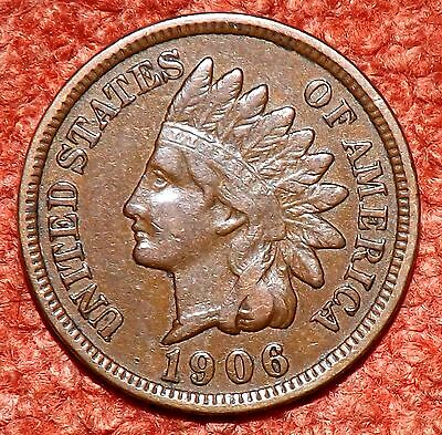1906 USA Indian Head Cent -- Collectible Grade & Detail