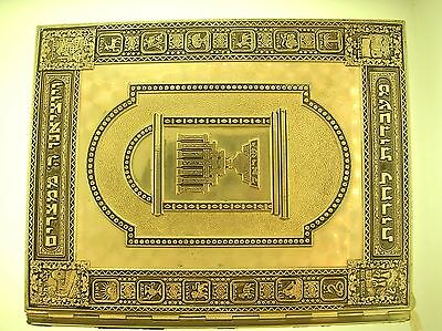 Arthur Szyk 1962 The Haggadah Silver Plated Jeweled Cover - V. Nice Condition
