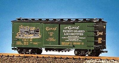 USA Trains G Scale 19063 Woodside Box Car Climax Manufacturing Co