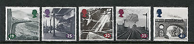 1994 Gb Mnh Sg 1795-1799 The Age Of Steam Commemorative Stamp Set