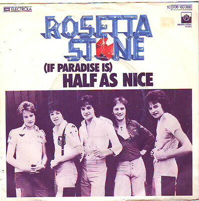 "Rosetta Stone "" (If Paradise Is) Half As Nice / Drive On "" 7'-Single (1977)"