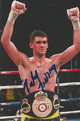 Rocky Fielding Hand Signed Coloured Photo