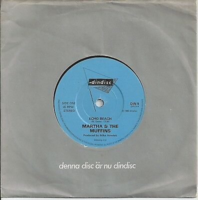 "Martha & The Muffins - Echo Beach 7"" Vinyl 1980"