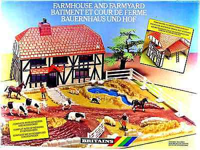 Britains (#4712) Farmhouse and Farmyard - mint in box - made in England 1988