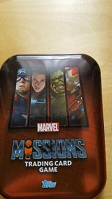 50+ Marvel missions trading cards with tin and limited edition card