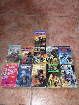 Mixed lot of 11 Paperback books by Christopher Stasheff, Warlock & Wizard