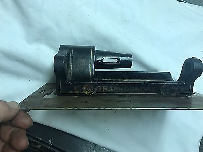 Graphophone Painted Flowers Base Plate Cylinder Phonograph Edison Part As Found