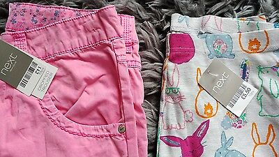 BNWT - 2 x Girls Summer Cropped Leggings/Trousers from Next - size 9-10yrs