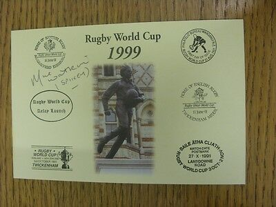 1999 Rugby World Cup Postcard: Hand Signed By Watkins, Mike [World Cup 'Relay La