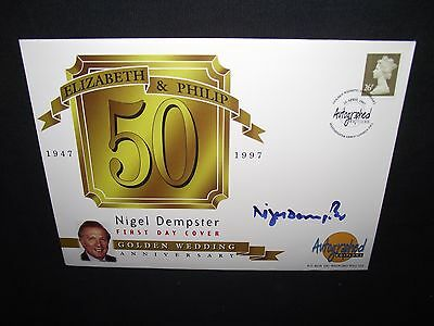GB first day cover 1997 26p stamp signed by nigel dempster with special cancel