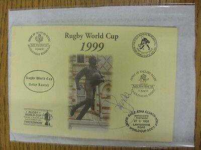 1999 Rugby World Cup Postcard: Hand Signed By Lydon, Joe [World Cup 'Relay Launc