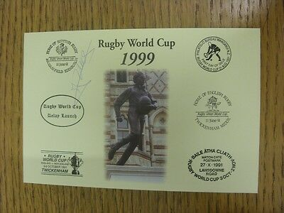 1999 Rugby World Cup Postcard: Hand Signed By Vermeulen, Elvis [World Cup 'Relay